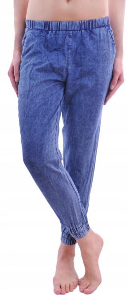 9c1f6bb2c74182 ciuszkiumuszki > CALZEDONIA spodnie jeans marmurkowe ściągacze S